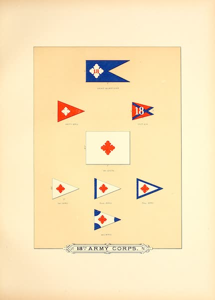 Flags of the Army of the United States - 18th Army Corps (I) (1887)