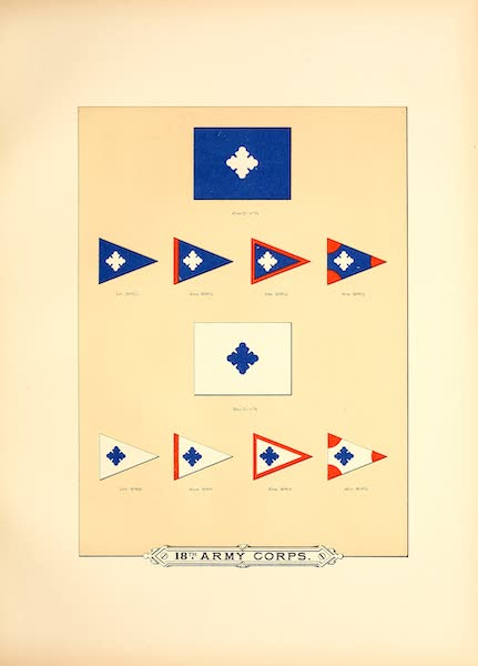 Flags of the Army of the United States - 18th Army Corps (II) (1887)