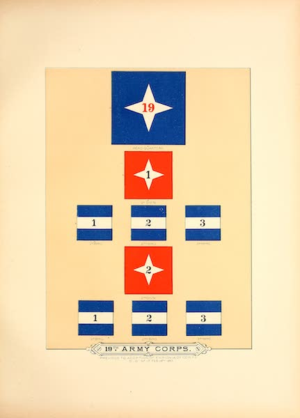 Flags of the Army of the United States - 19th Army Corps (I) (1887)