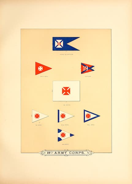 Flags of the Army of the United States - 19th Army Corps (III) (1887)