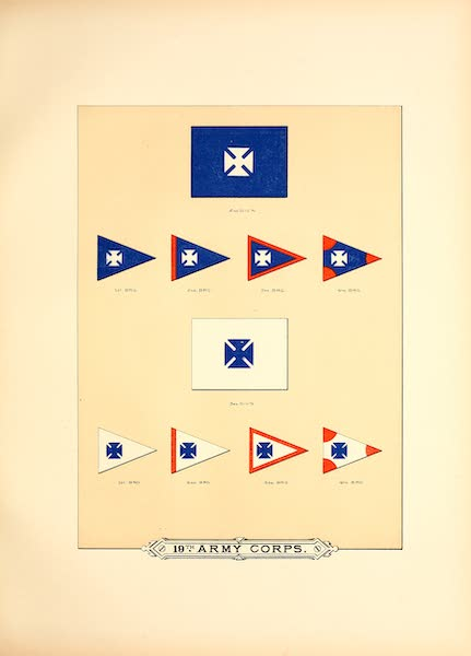 Flags of the Army of the United States - 19th Army Corps (IV) (1887)