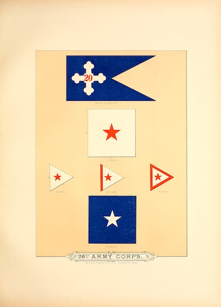 Flags of the Army of the United States - 20th Army Corps (I) (1887)