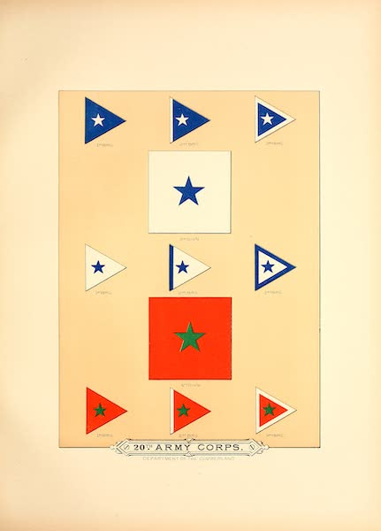 Flags of the Army of the United States - 20th Army Corps (II) (1887)