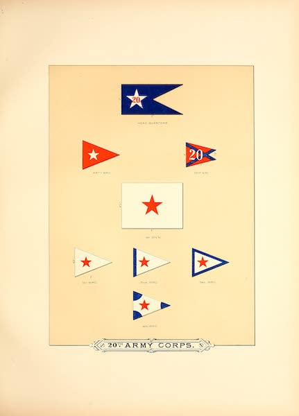 Flags of the Army of the United States - 20th Army Corps (III) (1887)