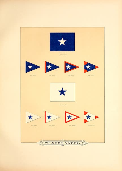 Flags of the Army of the United States - 20th Army Corps (IV) (1887)