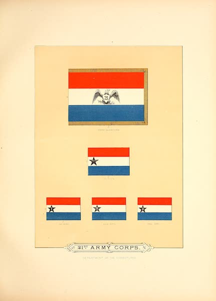Flags of the Army of the United States - 21st Army Corps (I) (1887)