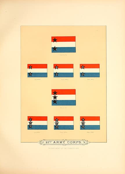 Flags of the Army of the United States - 21st Army Corps (II) (1887)