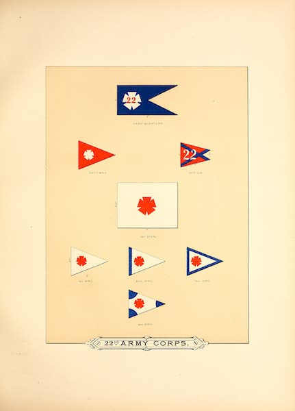 Flags of the Army of the United States - 22nd Army Corps (I) (1887)