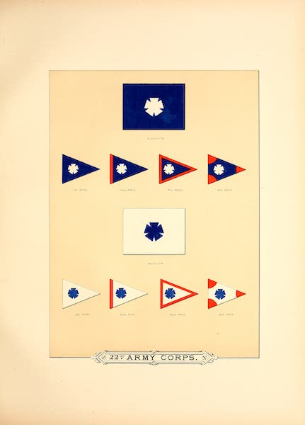Flags of the Army of the United States - 22nd Army Corps (II) (1887)
