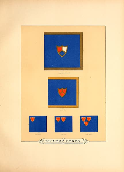 Flags of the Army of the United States - 23rd Army Corps (I) (1887)