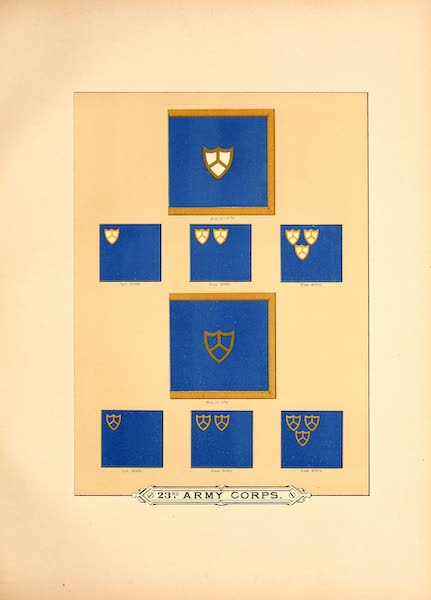 Flags of the Army of the United States - 23rd Army Corps (II) (1887)