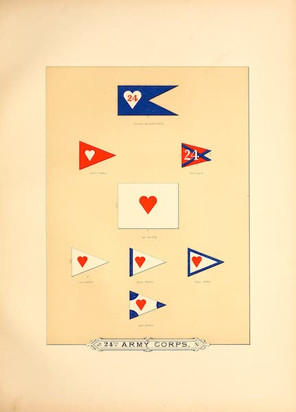 Flags of the Army of the United States - 24th Army Corps (I) (1887)
