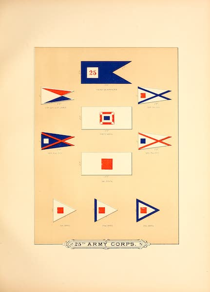 Flags of the Army of the United States - 25th Army Corps (I) (1887)