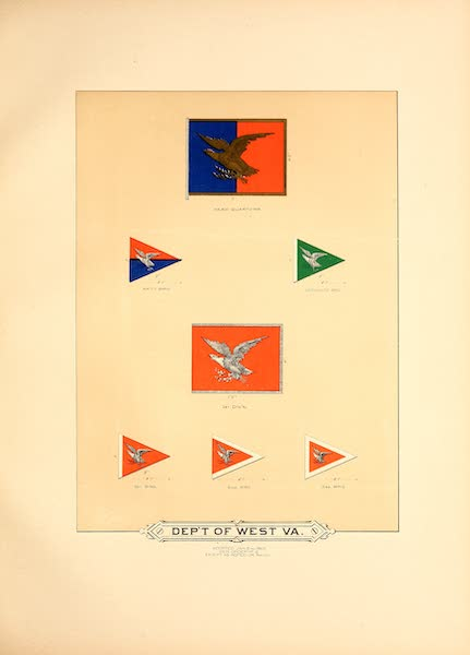 Flags of the Army of the United States - Dept. of West. Va. (I) (1887)