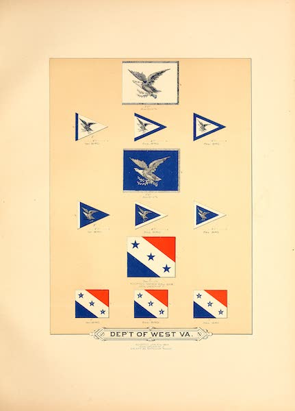 Flags of the Army of the United States - Dept. of West. Va. (II) (1887)