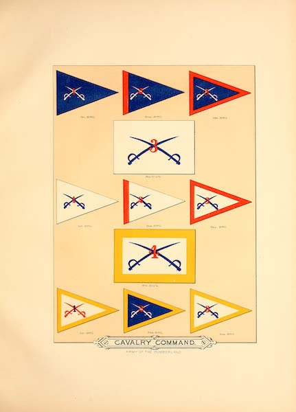 Flags of the Army of the United States - Cavalry Command (II) (1887)