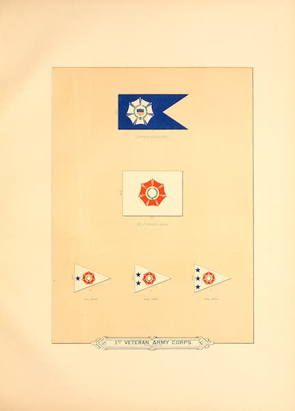 Flags of the Army of the United States - 1st Veteran Army Corps (1887)
