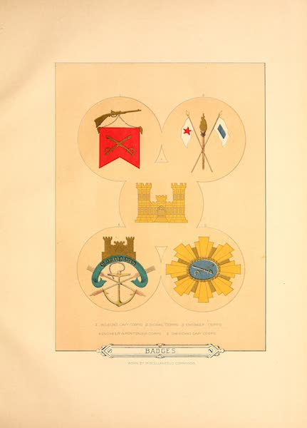 Flags of the Army of the United States - Badges (1887)