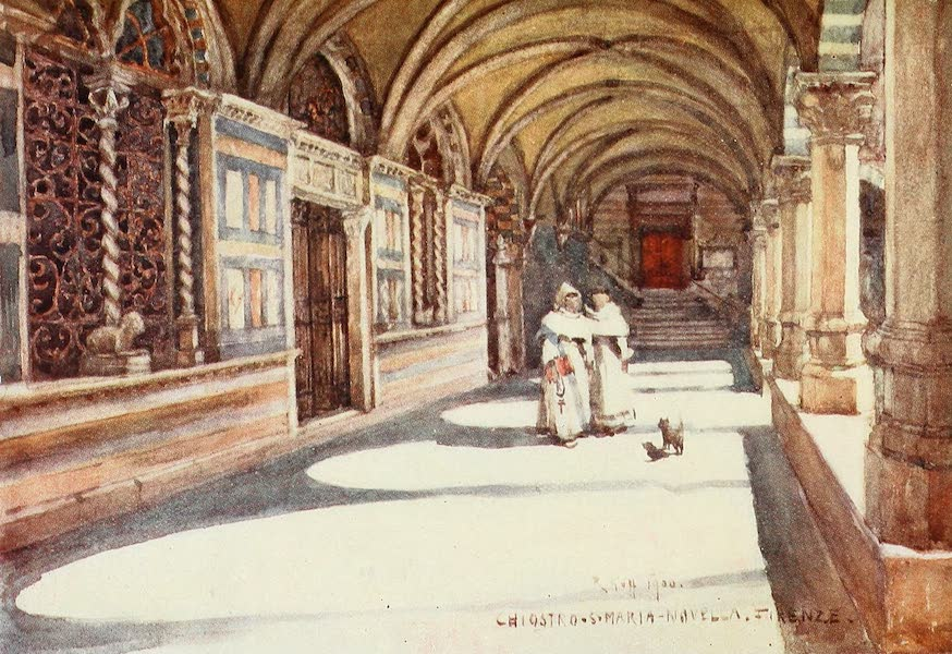 Florence & Some Tuscan Cities Painted and Described - The Green Cloister of Santa Maria Novella (1905)
