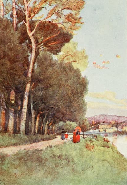 Florence & Some Tuscan Cities Painted and Described - A Favourite Walk along the River in the Cascine (1905)