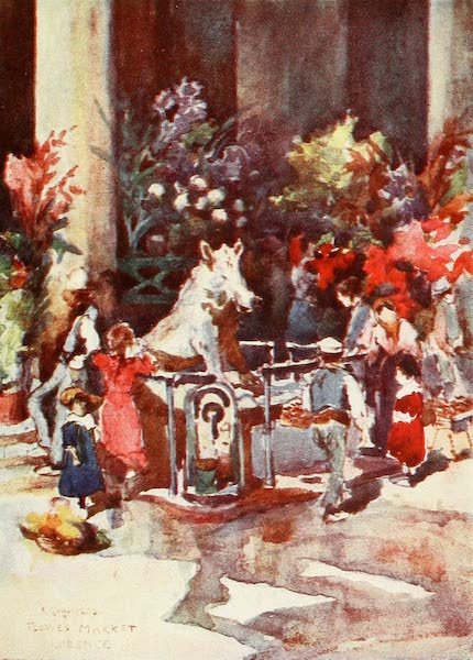 Florence & Some Tuscan Cities Painted and Described - The Bronze Boar of the Mercato Nuovo (1905)