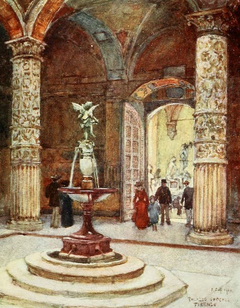 Florence & Some Tuscan Cities Painted and Described - Courtyard of the Palazzo Vecchio (1905)