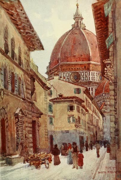Florence & Some Tuscan Cities Painted and Described - Via dei Servi (1905)