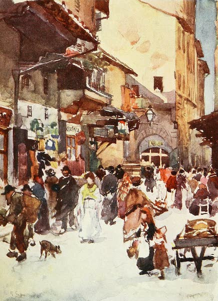 Florence & Some Tuscan Cities Painted and Described - Study in the Mercato Vecchio in the year 1884, before the destruction of the Ghetto (1905)