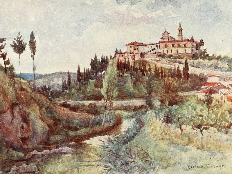 Florence & Some Tuscan Cities Painted and Described - The Cistercian Convent of the Val d'Ema, beyond the Porta Romana (1905)