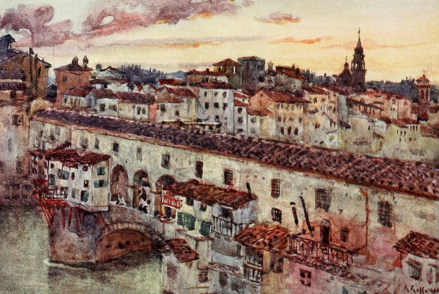 Florence & Some Tuscan Cities Painted and Described - Sunset in Summer over the Florentine Roofs (1905)
