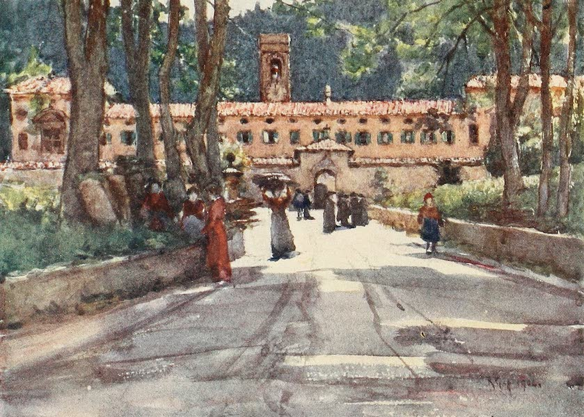 Florence & Some Tuscan Cities Painted and Described - The Old Monastery at Vallombrosa (1905)