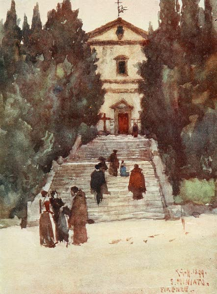 Florence & Some Tuscan Cities Painted and Described - The Franciscan Church of S. Salvadore al Monte (1905)