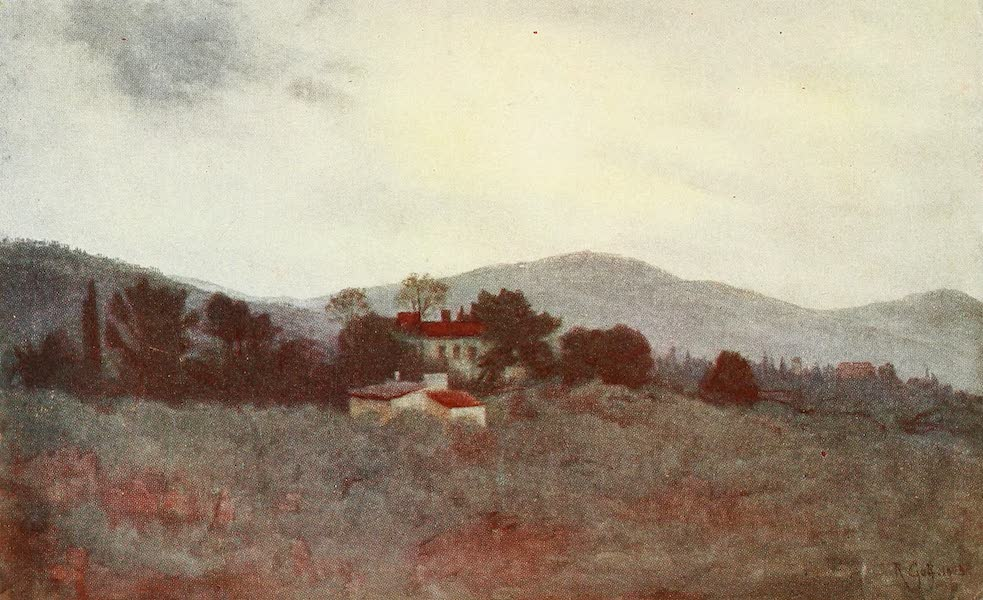 Florence & Some Tuscan Cities Painted and Described - A Study of Tuscan Olive Gardens (1905)
