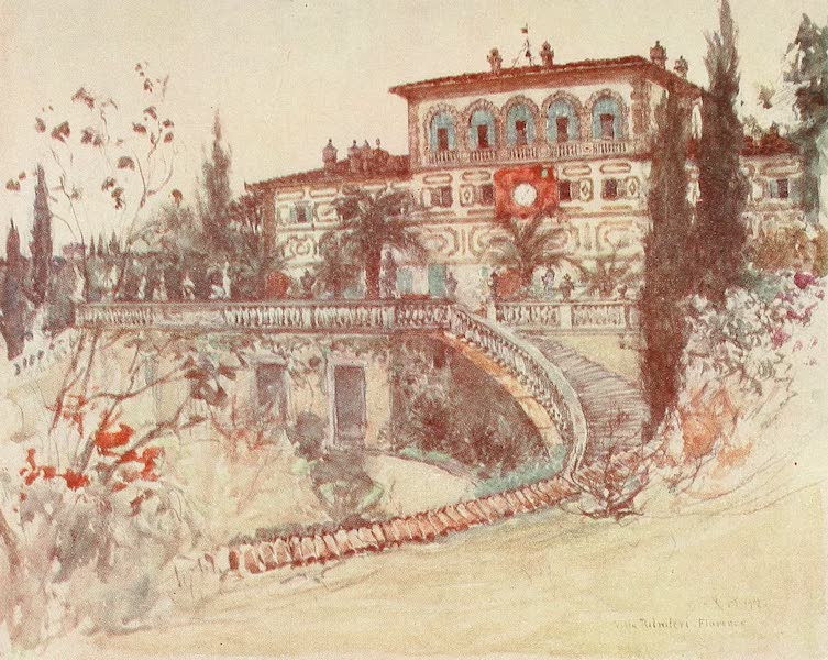 Florence & Some Tuscan Cities Painted and Described - The Villa Palmieri (1905)