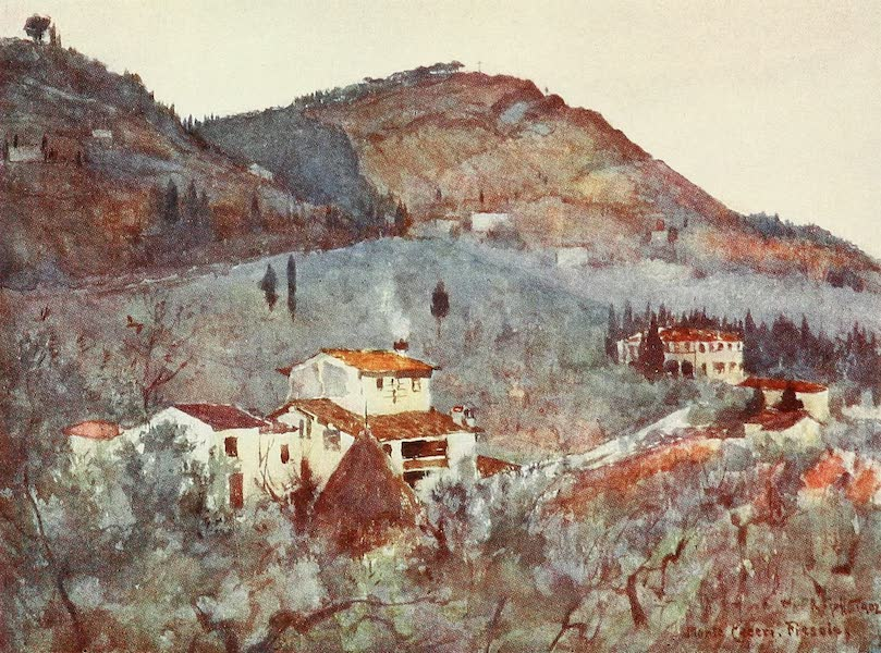 Florence & Some Tuscan Cities Painted and Described - Misty Morning below Monte Ceceri, Fiesole (1905)