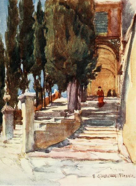 Florence & Some Tuscan Cities Painted and Described - The Steps of the Convent of San Girolamo (1905)
