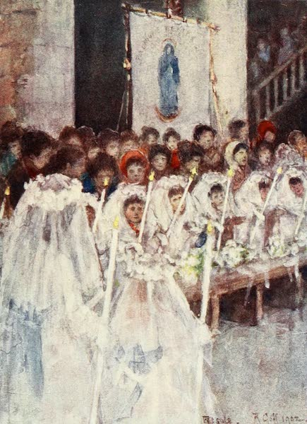 Florence & Some Tuscan Cities Painted and Described - A First Communion in the Cathedral of Fiesole (1905)