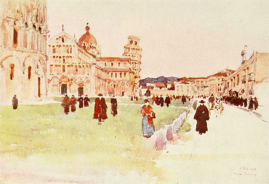 Florence & Some Tuscan Cities Painted and Described - Piazza del Diuomo, Pisa (1905)