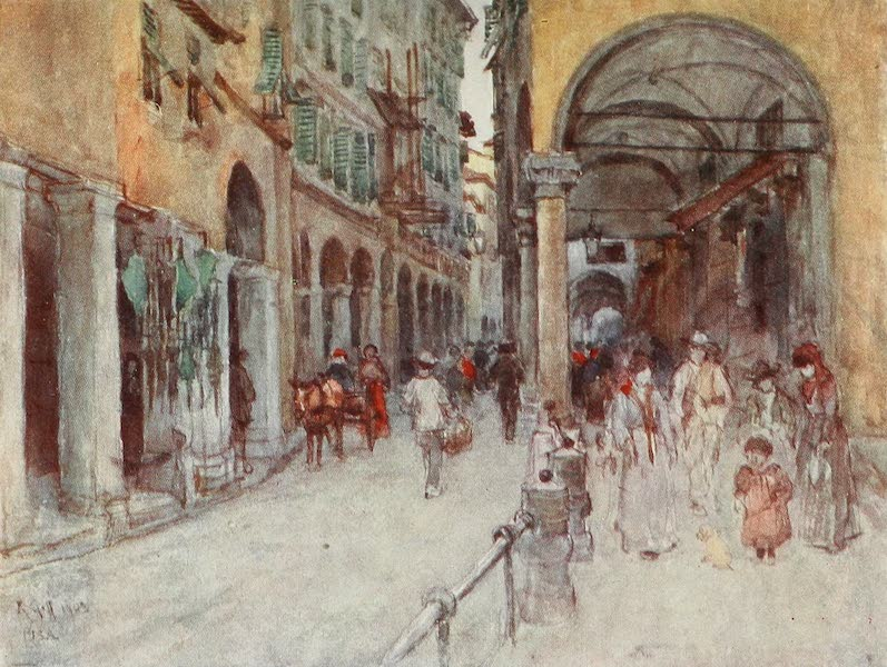 Florence & Some Tuscan Cities Painted and Described - Street Study in Pisa (1905)