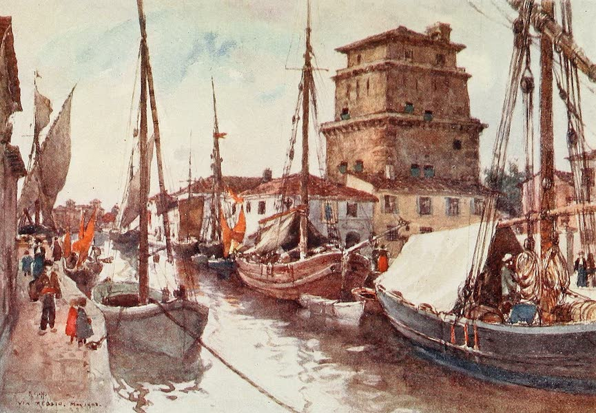 Florence & Some Tuscan Cities Painted and Described - Harbour of Viareggio (1905)