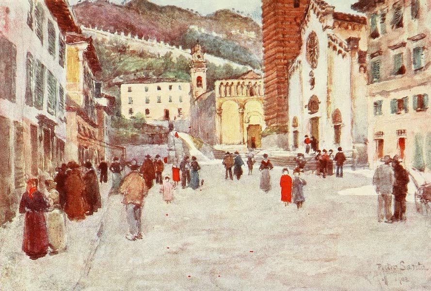 Florence & Some Tuscan Cities Painted and Described - The Pine Woods and Carrara Mountains at Viareggio (1905)
