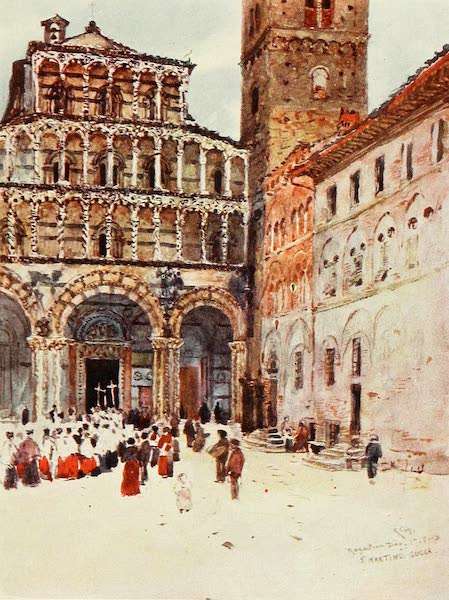 Florence & Some Tuscan Cities Painted and Described - West Front of the Cathedral of San Martino Lucca (1905)