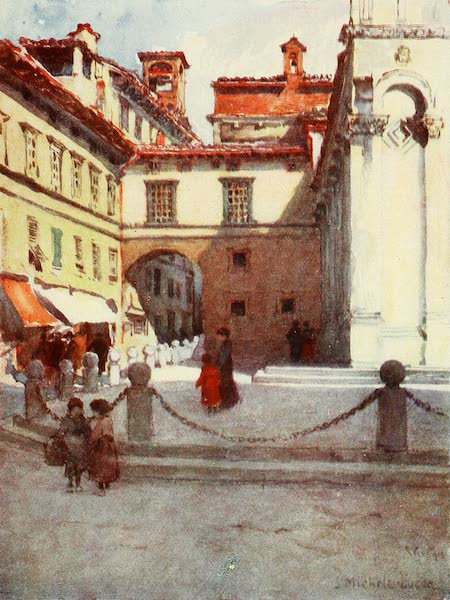 Florence & Some Tuscan Cities Painted and Described - Piazza San Michele, Lucca (1905)