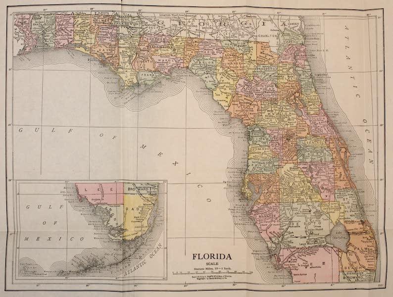 Florida, the Land of Enchantment - Map of Florida (1918)