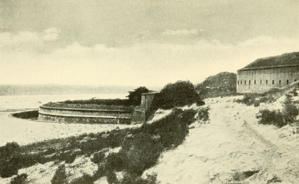 Florida, the Land of Enchantment - Bird's-eye view of Fort San Carlos and Fort Barrancas (1918)