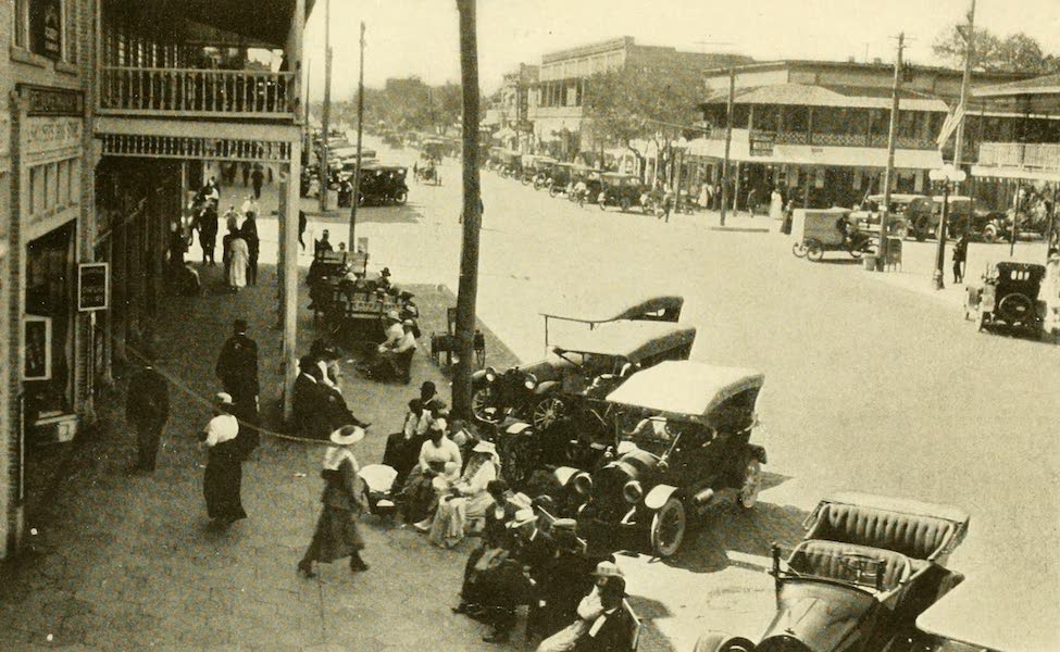 Florida, the Land of Enchantment - A Street Scene, St Petersburg (1918)