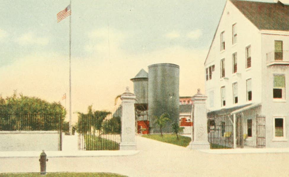 Florida, the Land of Enchantment - Entrance to Naval Station, Key West (1918)