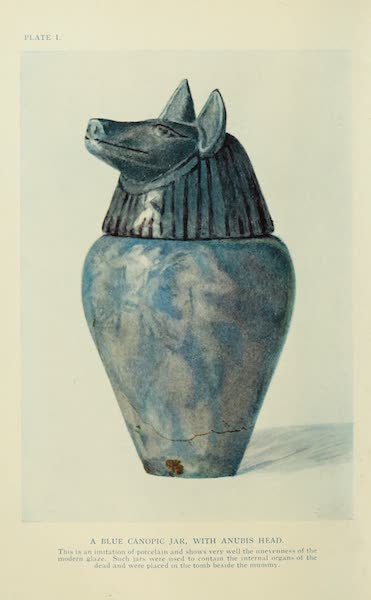 Forged Egyptian Antiquities - A Blue Canopic Jar with Anbis Head (1912)