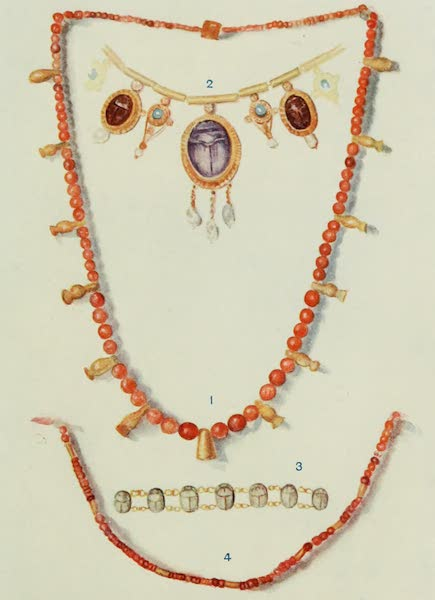Forged Egyptian Antiquities - Necklaces and a Bracelet (1912)