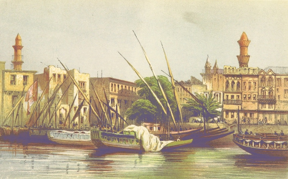 Four Months in a Dahabeeh - Boulak, the Port of Cairo (1863)